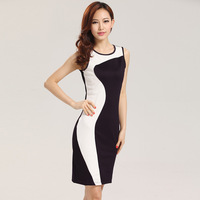 2013 purple white patchwork women polyestern casual dresses fashion summer clothes top one-piece dresses 86001
