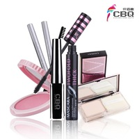Cbq make-up 5 powder liquid eyeliner mascara eyebrow pencil blusher