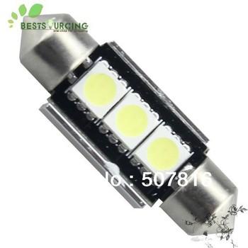 free shipping hot selling 10pcs Car led festoon light c5w 3 led smd 3smd 5050 39MM CANBUS OBC error free led lamp
