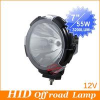 Fedex Free Shipping, High Power 7'' 55W HID Xenon Driving Floodlight/Spotlight Light 12V For Offroad Headlight Truck 4700Lum