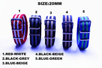 Hot sale ! 1PCS High quality 20MM NATO straps waterproof nylon watch strap 5 color available  - 72402