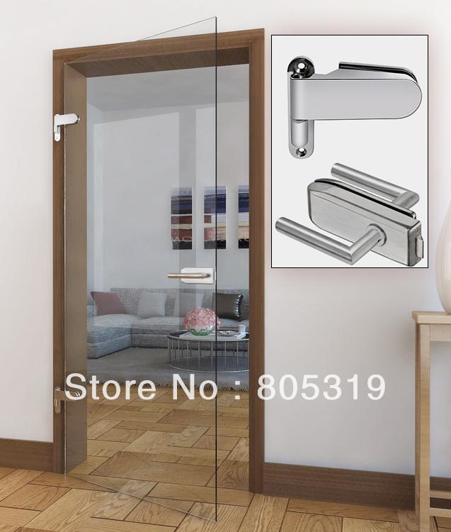 Free Shipping-HD01 Aluminum glass swing door hardware,hinged glass door for shower entry door(China (Mainland))