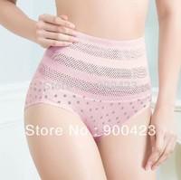 free shipping Ms. at high waist tuck pants body sculpting pants maternal postpartum waist corset pants briefs 3 sizes  2pcs/lot