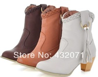 Sale Fashion Female Boots Thick Heel Boots Cowboy Boots  Free Shipping