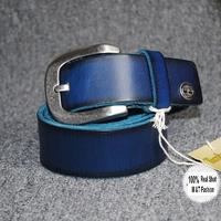 New 2014 Men's belt Fashion brand belt all match belts Vintage 100% Genuine Leather Straps belts Gift for Men 3color MBT0033
