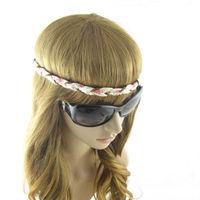 Women's Hair Accessory  Flower Print  paillette Leather  Plait  HeadBand For Girl
