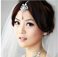 New Rhinestone Tiara and crown bridal head chain For Wedding Quinceanera Hair Chain Pageant free shipping CY-005