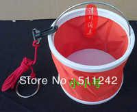 Free Shipping 10 Pcs/Lot Fishing tackle circle to get water bucket folding bucket small Small diameter : 16.5