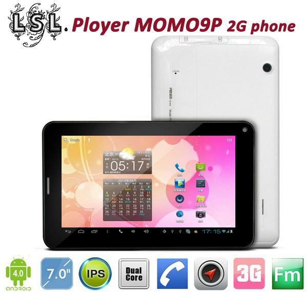 Hot 7inch Ployer MOMO9P 2G/3G dual core tablet pc MTK 6577 GSM CDMA wcdma IPS GPS dual sim phone call Bluetooth HDMI(China (Mainland))