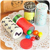 Free shipping 8pc/lot mini tea caddy toothpick holder Toothpick boxes storage tin box 3.5 cmX 7.5 cm