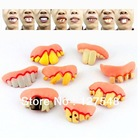 Free shipping 8pcs/lot novel product funny fake rotten teeth/Halloween party favor creepy dentures /party Supplies Drop Shipping(China (Mainland))