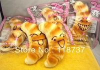 2013 new arrival kawaii vivid jumbo ox horn squishy buns bread  charms with original pack PU soft  freeshiping