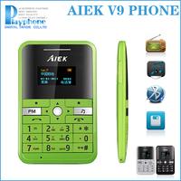 2014 new Sales! 5.8 mm Ultra Thin AIEK V9 Cool Card Music phone Child Kid Phone Backup Low Radiation Phone mini cool phone
