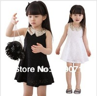 Vestido Hot Sale Top Fasion Regular Dresses free Shipping 2014 Summer Girls Clothing Child Paillette One-piece Dress, Tank Dress