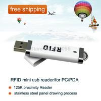 free shipping+125K proximity Reader (Keyboard Emulation To PC/PDA)/RFID mini usb reader/for PC/PDA