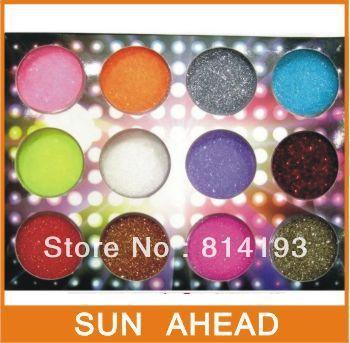 Free shipping 12 Colours nail Acrylic Paerl Powder Dust pigment powder Nail Art Decoration r Wholesale big discount drop ship