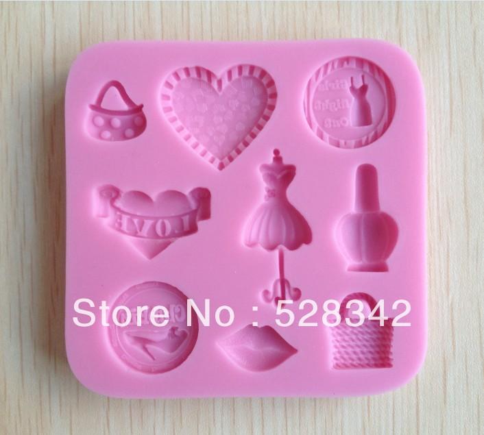 1pcs Purse shaped Chocolate Candy Jello 3D silicone Mold Mould Cartoon Figre/cake tools Soap Mold Sugarcraft Cake Decoration(China (Mainland))