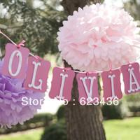 Free shipping 35CM 14' Multicolour Paper  Big Size  Flowers Diy Pom Poms Flower Balls Party Wedding Decoration