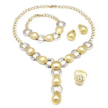 Free Shipping  wholesale sophia collection jewelry / kundan jewellery set  gold fashion Pendant Earrings necklace Jewelry set
