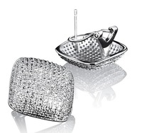 2014 New Nickel Free Classic Design Fine Quality Micro Pave Setting Earrings AAA Cubic Zircon