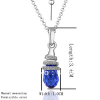 18KGP N040 Blue Crystal Necklace 18K K Gold Plated Fashion Jewellery Nickel Free Necklace Rhinestone Crystal SWA Elements