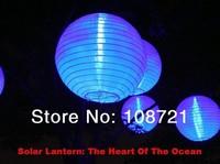 "Free Shipping +2pcs/lot ,10"" Solar Powered Chinese Lantern Patio Garden/ Party /Festival/ Decoration /Yard LED light Wholesale"