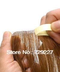 5A Grade 100% Human Hair Tape Hair Extension 80cm/60g/pc