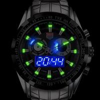 TVG Sports men full steel Quartz military Watch city Hunter LED Pointer 30AM Waterproof men wristwatch KM-579 Drop Shipping