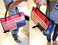 Hot Sale Fashion American Flag Pattern Women Shoulder Bag Pop Punk Rivet Vintage PU Handbag Single-Shoulder Handbag RT0364