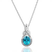 18KGP N055 Crystal Necklace 18K Platinum Plated Fashion Jewellery Nickel Free Necklace Rhinestone Crystal SWA Elements
