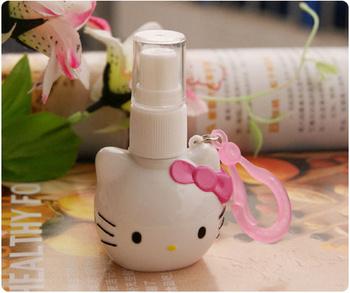 Hello Kitty mini pressure bottle / perfume bottle cathead type models cute cartoon Hello Kitty pink and white