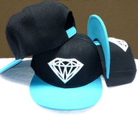 Diamond Snapback caps adult adjustable hats black / green Are The Most Popular Forms Of Head Wear Now Freeshipping