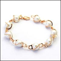 Italina Rigant Fashion Pearl Bracelets Women Luxurious Bracelet Jewelry Free Shipping