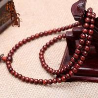 Lobular red sandalwood beads bracelets male women's bracelet 6mm108