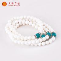 Natural white tridacna bracelet 108 fozhu gold tridacna bracelet day gift Women bracelets