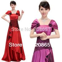 1PCS New Fashion Woman Bloom Korean Princess Long Wedding/Evening Party Dress FZ128