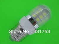 E27  7W 360 degree 30 SMD 5050 LED Light Bulb White Warm White light 220V 660Lm LED Corn Light spotlight bulbs With Cover