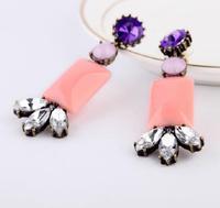 New Fashion Crystal Color Statement Earrings j.e.w.e.l crew JN88