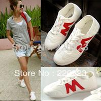 2013 m letter casual canvas shoes low shoes light shoes princess shoes D16868