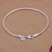 Lose money promotion ! Women's Sterling Silver Snake Bracelet 3mm Snake Chain Wholesale Fashion Jewelry Silver 925 Jewelry H187