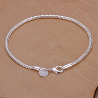 Lose money promotion ! Women's Sterling Silver Snake Bracelet 3mm Snake Chain Wholesale Fashion Jewelry Silver 925 Jewelry H187