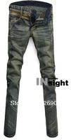 Hot-selling!Free Shipping 2013 Men's designer skinny jeans brand retro style fashion pants cotton denim trousers man 28-36 303