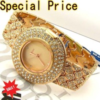 New Fashion Crystal Ladies Dress Watch WeiQin Brand Goods Wholesale Luxury Full Rhinestone Diamond Women's Watch Free Shipping
