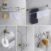 Bathroom fashion luxury bathroom hardware accessories 5 sets luxury gold plated