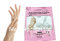 2014 New Brand Rose Whitening & Peeling Moisture Hand Mask Hand Care Products Free Shipping