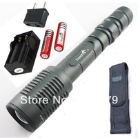 Free shipping Trustfire Z5 5 Mode 1600 Lumen CREE T6 LED Flashlight Zoomable Adjustable rechargeble +2 *3800mAh battery+charger
