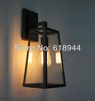 Hot Selling RH FILAMENT SCONCE Loft Lamp Edison Bulb Glass Box Vintage Wall Lamp