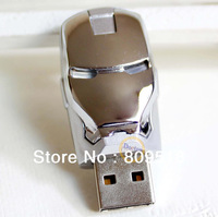 Unique Design Robort Mask USB Drive 1GB 2GB 4GB 8GB 16GB 32GB Memory Flash Thumb Stick Pendrive Silver