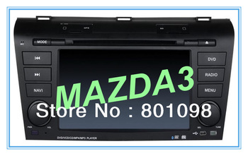 Free shipment 2 din intelligent car multimedia system GPS DVD radio bluetooth for MAZDA3 2004-2009