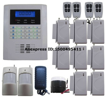 A19 Quad-4-Bands GSM PSTN 101 Zones Wireless Wired Smart Home Security Alarm Burglar System Voice Instruction Auto SMS Call